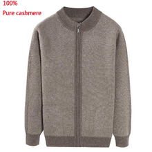 new arrival men fashion Winter Thickening 100% Pure Cashmere Sweater Male Cardigan Men Coat Casual high quality plus size XS-5XL
