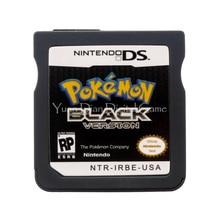 Nintendo nds видеоигры картридж консоли карты покемон серии черный сша английская версия