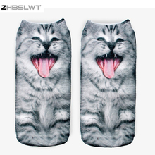 ZHBSLWT 20 Colors You Can Choose 3D Print Animal Women Socks Casual Cartoon Socks Unisex Low