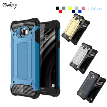 Wolfsay For Cover Samsung Galaxy C7 Case C7000 Silicone Hard Armor Phone Cover For Samsung Galaxy C7 Case For Samsung C7 Case