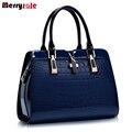 Европа женщины кожаные сумки PU сумки кожа женщины сумка патент сумочка