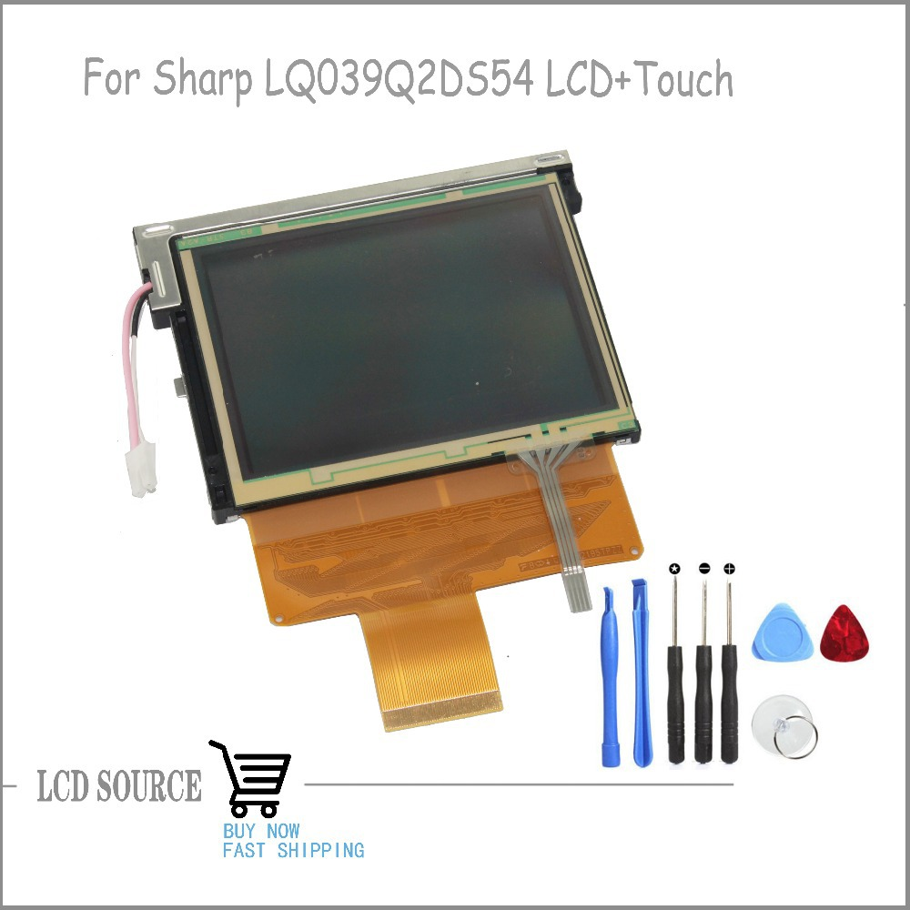 New Original 3.9 Inch For TFT LQ039Q2DS54 LCD Display Screen +Touch Screen Digitizer Replacement Parts Free Shipping brand new original for 2 2 inch ls022q8ud04 display