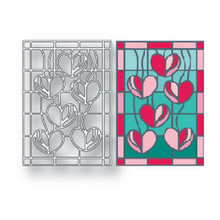 Naifumodo Heart Background Dies Metal Cutting New 2019 for Square Craft Scrapbooking Album Embossing Die Cut Card