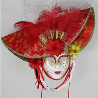 021336 Mardi gras masquerade mask high grade manual coloured drawing or pattern hat full face mask mask of Venice