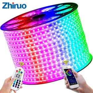 Image 5 - 110V LED Strip SMD5050 60led/m Color Changing Remote Control Type RGB Neon Light Belt AC110V Lighting Line Home Decor Waterproof
