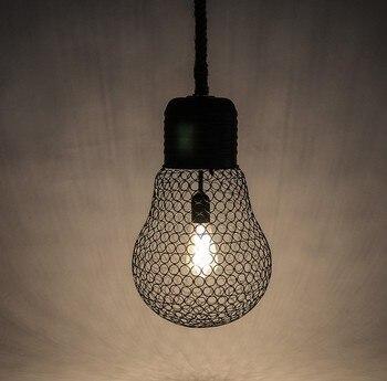 Stylu Loft Konopnej Liny żarówka Siatki Droplight Edison Rocznika Wisiorek Oprawy Oświetleniowe Do Jadalni Lampy Wiszące Oświetlenie Wewnętrzne