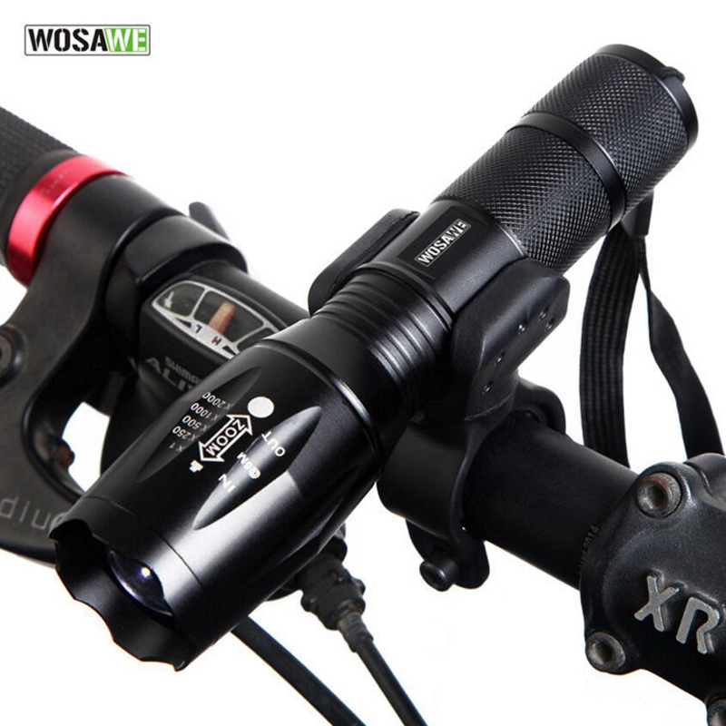 WOSAWE Bike Light Waterproof Bicycle Flashlight 5 Modes Cycling Headlight Bike Front Lights Lamp Torch MTB Bicycle Lights K2005 wheel up bike head light cycling bicycle led light waterproof bell head wheel multifunction mtb lights lamp headlight m3014