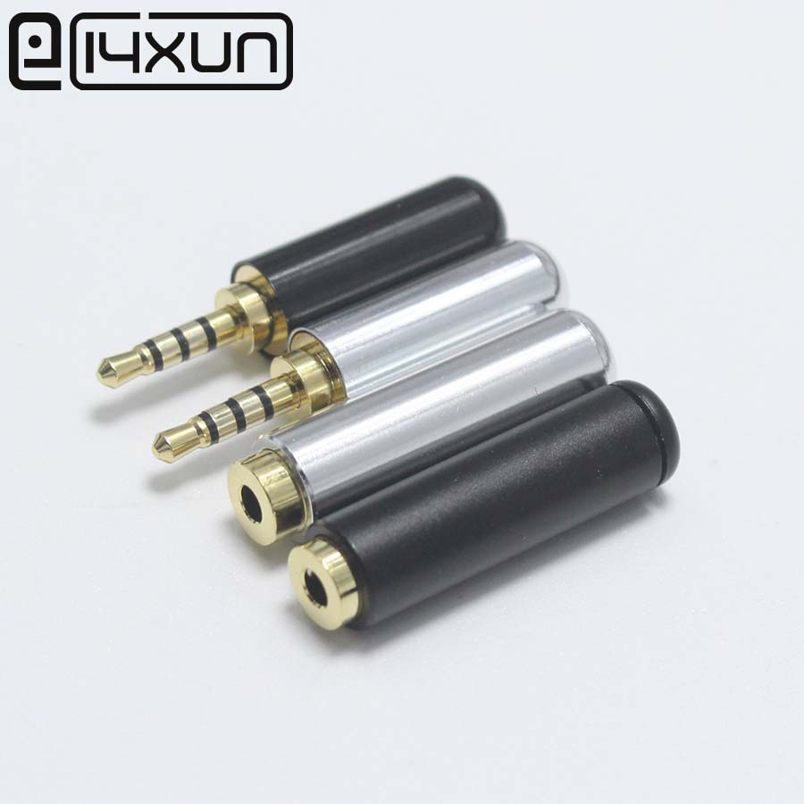 Eclyxun 1Pair 2.5mm 4 Pole Audio Male Plug / Female Jack 2.5 Stereo Jack For Phone Headset MP3 MP4 Bluetooth Earphone Ect