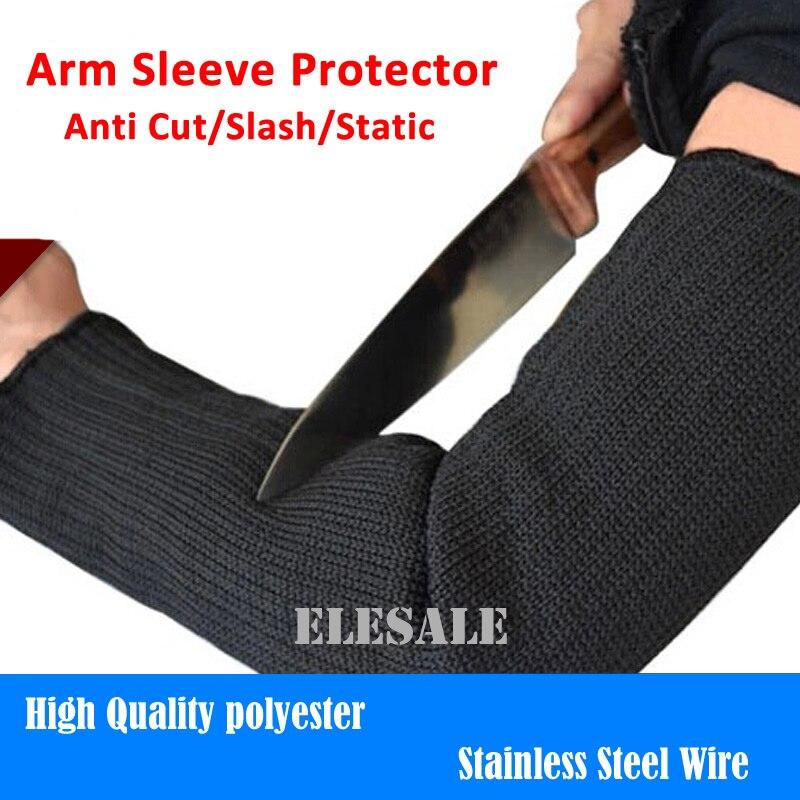 Envío gratis 1 par manga del brazo Protector Anti corte Slash resistente estática brazalete Acero inoxidable seguridad de trabajo