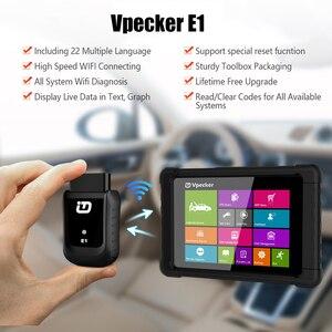 Image 2 - Автомобильный сканер Vpecker E1, оригинальный сканер с планшетом OBD2 через Wi Fi, полная система, автомобильный диагностический сканер, двигатель ABS SRS, Автомобильный сканер