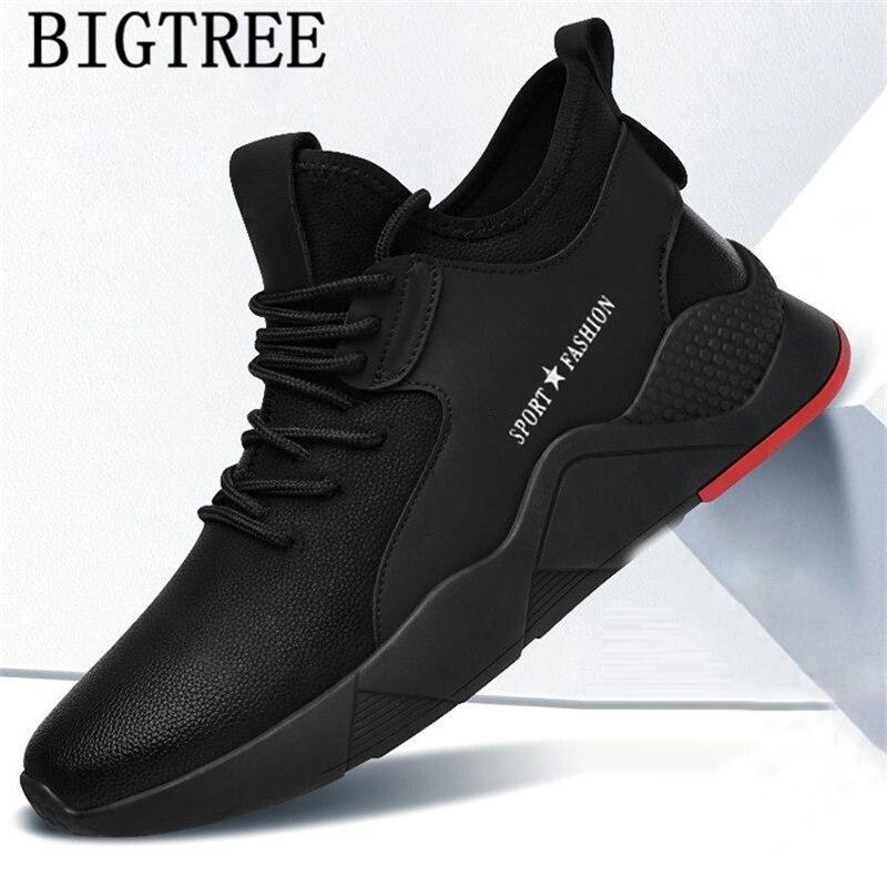 Mens Boots Casual Shoes Men Leather Winter Boots Luxury Brand Black Sneakers Designer Shoes Men High Quality Zapatos De Hombre