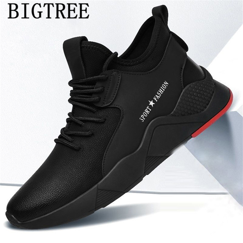 Mens Boots Casual Shoes Men Leather Winter Boots Luxury Brand Black Sneakers Designer Shoes Men High Quality Zapatos De Hombre
