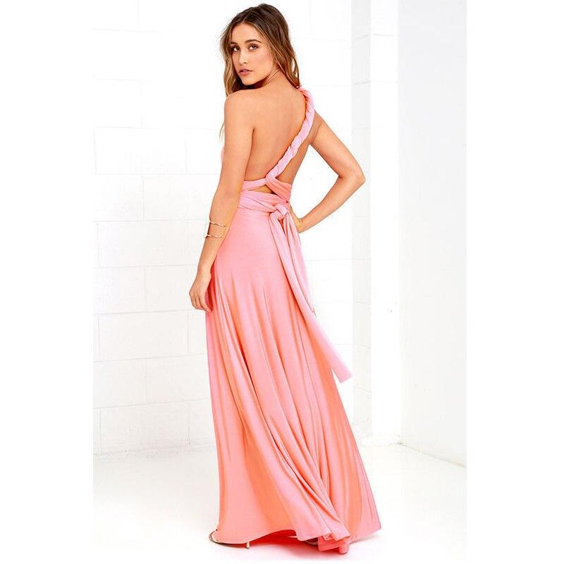 22 colores múltiples desgaste mujeres vestido Maxi partido vestido ...
