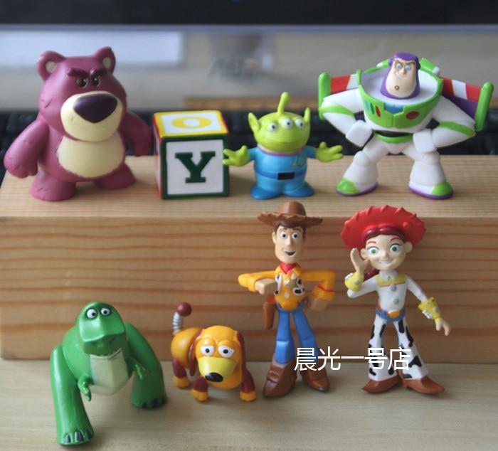 8 Pcs Set Toy Story 3 Buzz Light Year Woody Jessie Mini Pvc Action