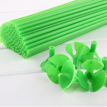 balloon stick  Size 32cm balloons rod PVC rods for support 100pcs/lot