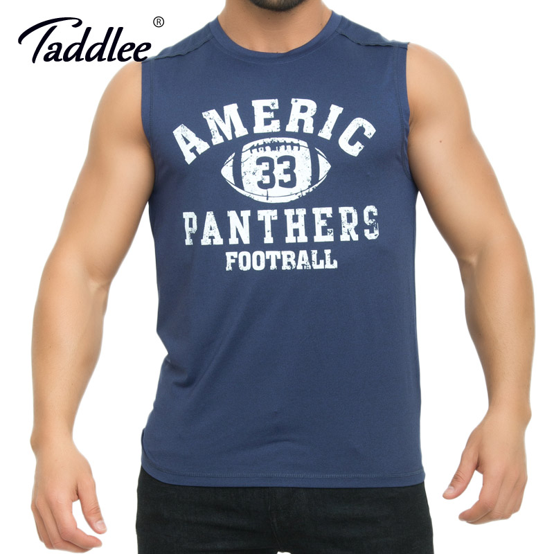 Taddlee Brand Men's Tank Top Tees Shirts Sleeveless Fitness Gasp Stringer Singlets Bodybuilding Muscle Shirts Undershirts Slim