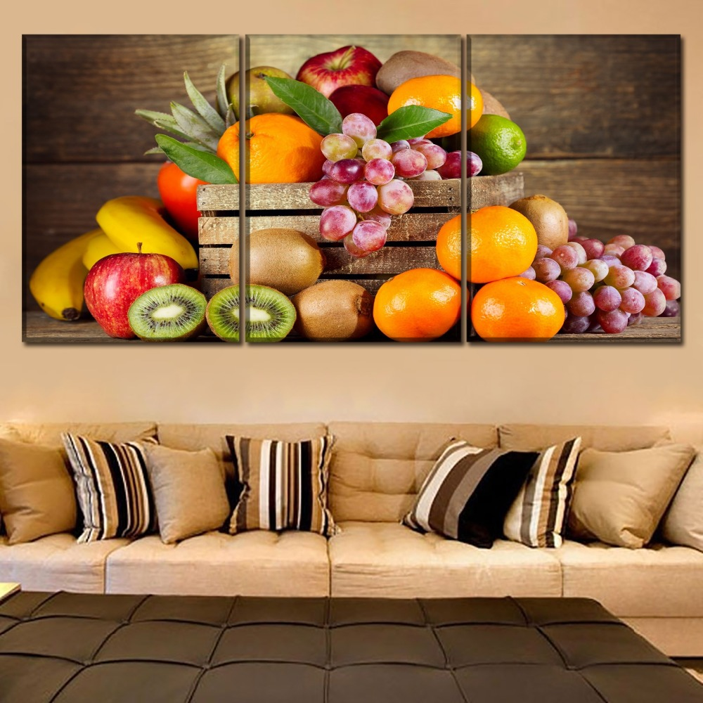 Us 10 6 47 Off Canvas Pictures Kitchen Restaurant Wall Art Decor Framework 3 Pieces Food Fruit Paintings For Modern Hd Print Artwork Poster In