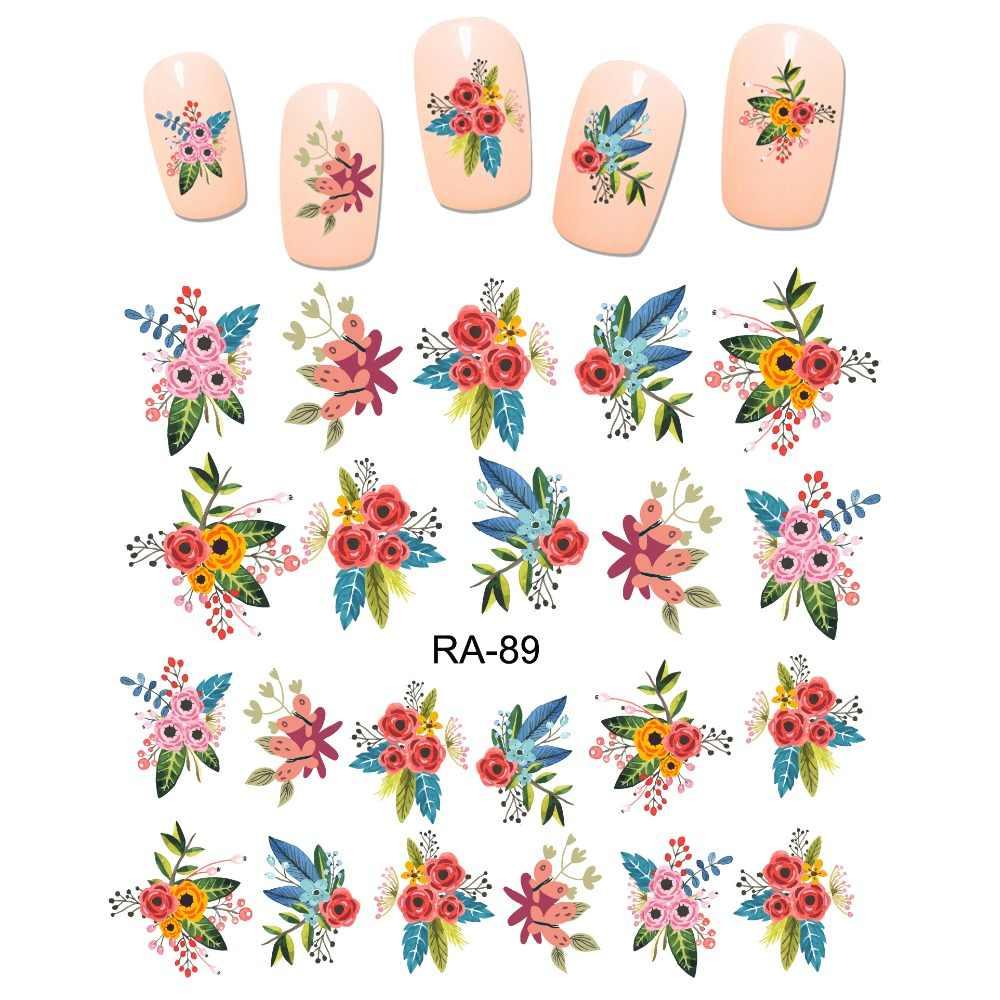 UPRETTEGO NAIL ART BEAUTY WATER STICKER DECAL SLIDER CARTOON CUTE FLOWER BOUQUET LOVE  ROSE BUD RA85-90