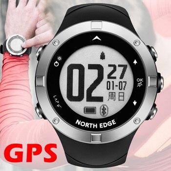 GPS đồng hồ kỹ thuật số Giờ Trái Tim Tỷ Lệ Người Đàn Ông kỹ thuật số đồng hồ đeo tay thông minh không thấm nước Calorie Chạy Chạy Bộ Triathlon Đi Bộ Đường Dài BẮC CẠNH