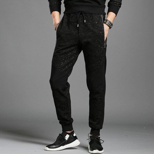 Мужчин-Длинные брюки Новая Мода 2016 для Печати мужская Марка Одежды Повседневная брюки Хлопок М-3XL K883