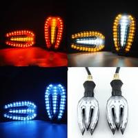 12 V Motocicleta LED Âmbar Turn Signal Light lndicators Blinker Flashers Para YAMAHA YZF R1 R6 FZ1 FZ6 YBR 125 250 MT-07 MT09