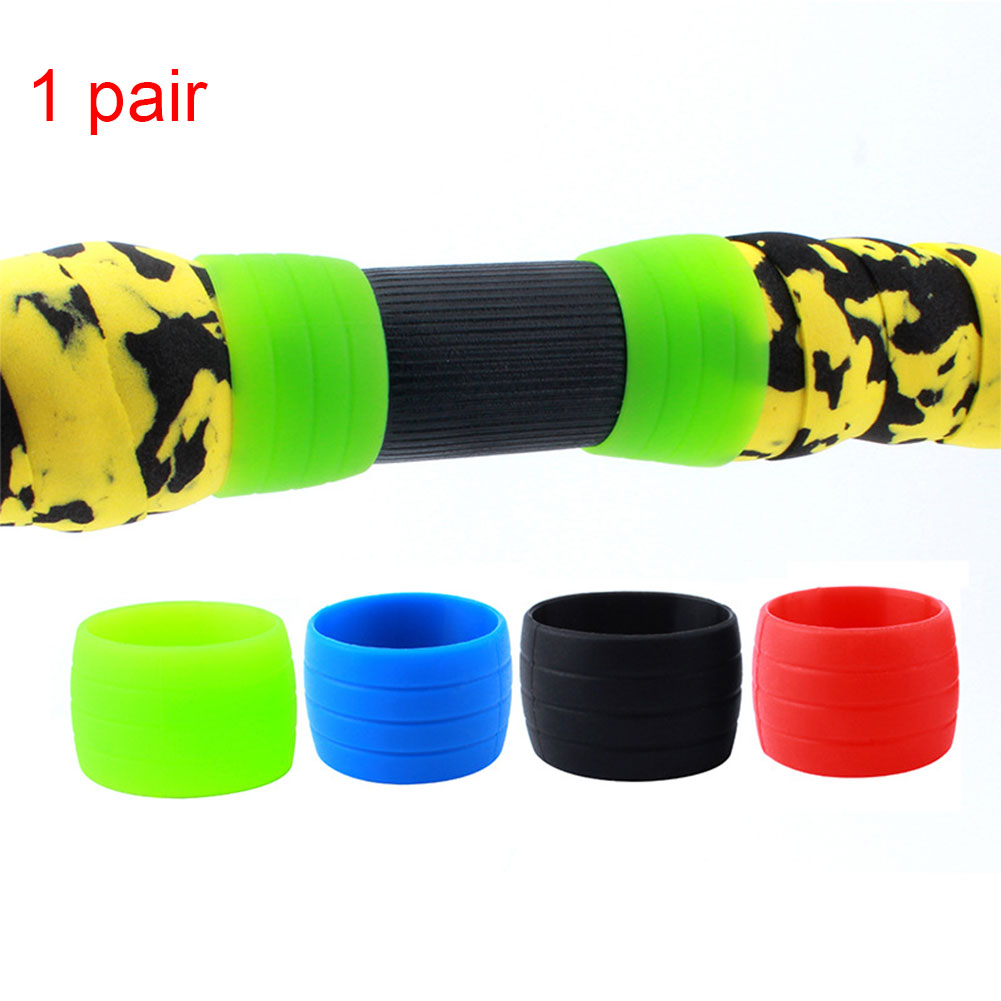 2PCS Accessory  Tape Silicone Round Road Bikes Wrap Belt Fasten Cycling Soft Fixing Ring Elastic Loop Sleeve Bicycle