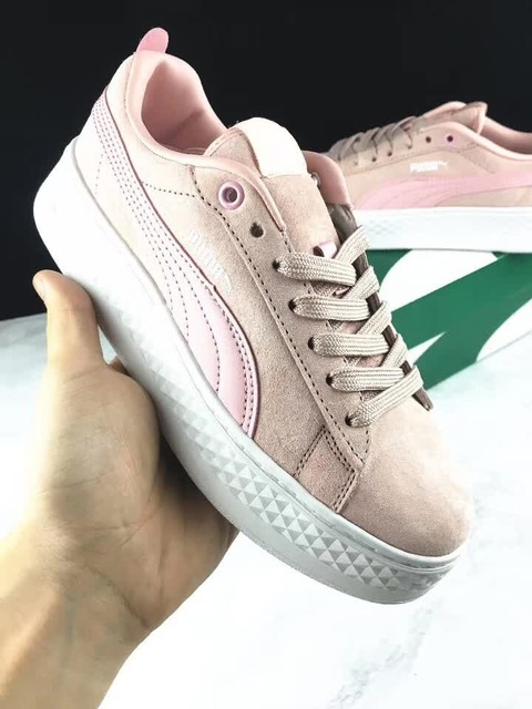 PUMA 2018 FENTY Suede Cleated Creeper Women s First Generation Rihanna  Classic Basket Suede Tone Simple Badminton Shoes 36-40 59dac0daa
