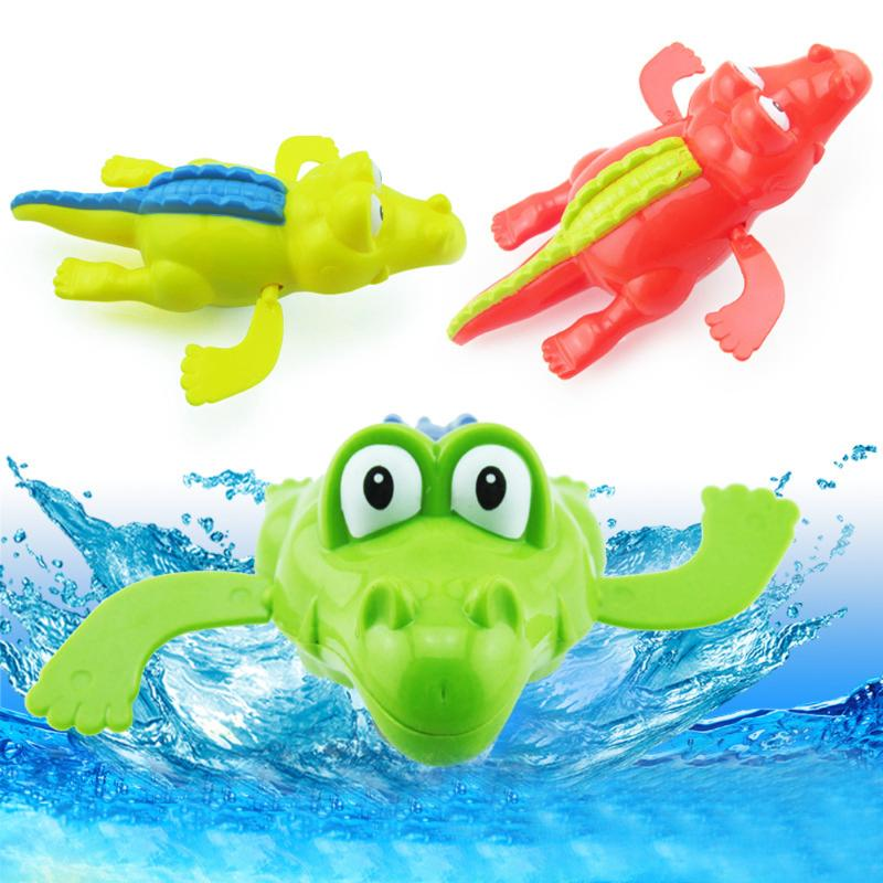 Baby BathToy Crocodile Wind Up Clockwork Swimming for Kid Educational Toys