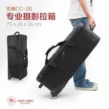 Adearstudio Professional photography box FLASH LIGHT BAG trolley photo camera bag flash light pull NO00D