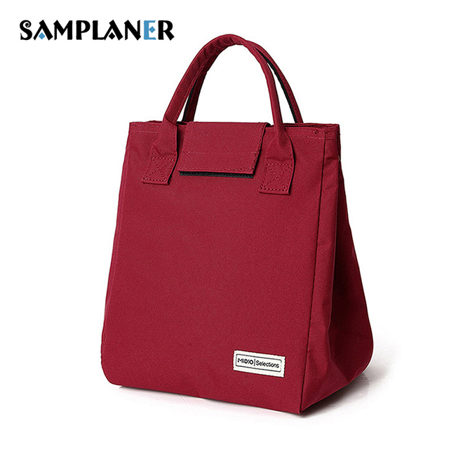 Samplaner Luxury Brand Lunch Bags For Women Kids Men Oxford Cooler Tote Insulation