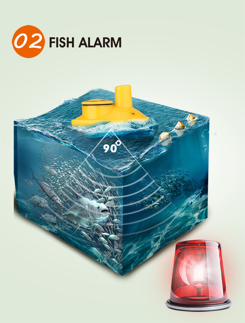 Portátil findfish sonar sem fio inventor de