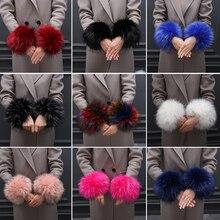 New Lady Apparel Warmers False Cuff Big wool sleeve Oversized Accessories Faux fox fur cuff hair bracelet lovely wrist winter
