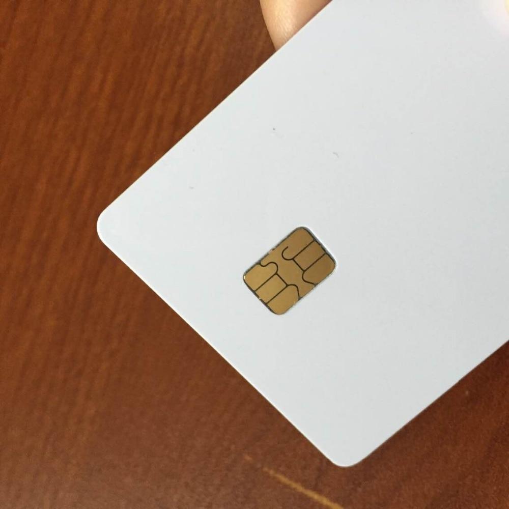 Белый Бланк для распечатки iso7816 AT24C16 записи чтения Контактная смарт карта - 5