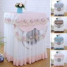 Spitze Staub proof Protector Floral stil Wohnkultur Waschmaschine Abdeckung 4 farben Waschbar 60*60*85cm dekoration