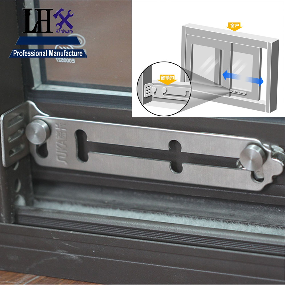 Rarelock Christmas Supplies Baby Care Stainless Window Lock for Glass Sliding Door Lock Bathroom Anti-thef Home Hardware DIY a