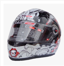 Free shipping high-grade genuine original LS2 FF358 motorcycle helmet safety helmet full helmet Racing /Black and red Crazy