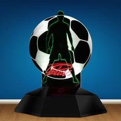 CR7 Cristiano Ronaldo 3D illusion lampka nocna Home Decor LED lampka nocna portugalia kibice piłki nożnej dekoracyjna nowość lampa stołowa w Błyszczące oświetlenie od Lampy i oświetlenie na