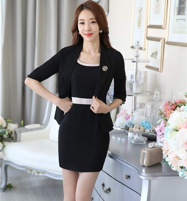 75167ed5220ca placeholder New Formal OL Styles Professional Spring Autumn Business Women  Work Wear Suits Jackets And Dress Office