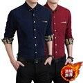 Novos homens e camisa de veludo quente de inverno veludo espessamento edição Han cultivar a moralidade camisa Japonês