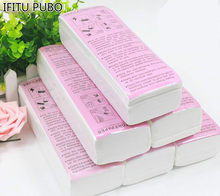 100 pcs di Rimozione Dei Capelli di carta Depilatoria Non Tessuta Epilator Cera Striscia di Carta In Rotolo Ceretta cera e di carta di rimozione depilatoria carta(China)