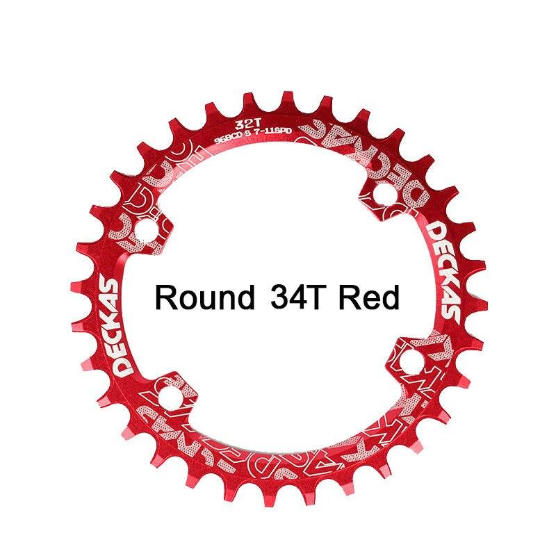 Bike Crank 104BCD Narrow Wide Crankset Single Plate 32T34T36T38T MTB Chainring Bicycle Chainwheel Bike Circle Round Shape (6)