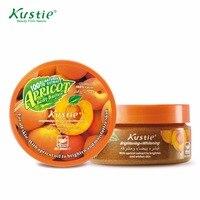 Kustie Promotion Set Natural Apricot 200ml Body Scrub 200ml Skin Deep Nourishing Apricot Body Butter