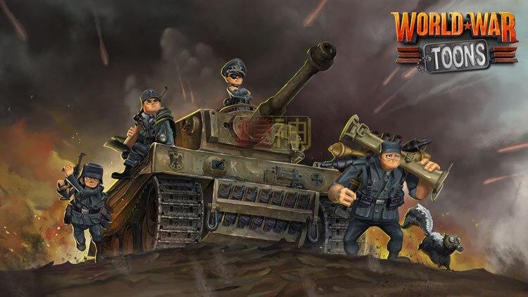 Military Model German Tiger I Heavy Tank World War Toons Series Q Version Wwt - 001