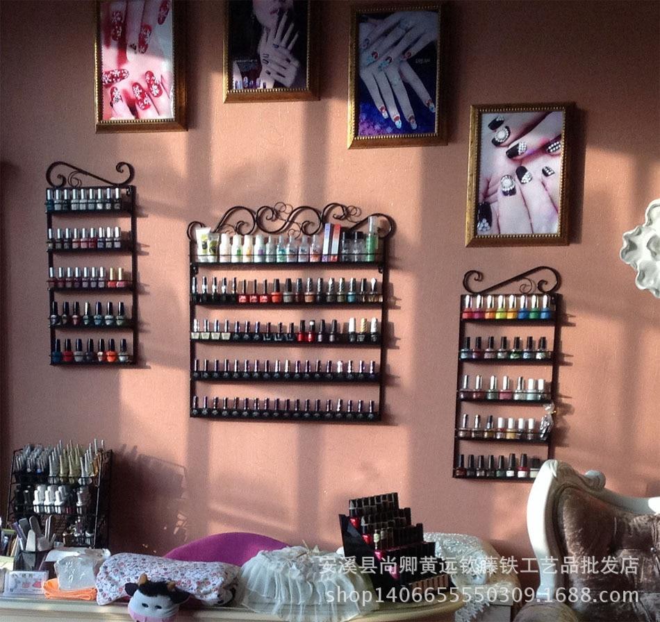 The New Nail Polish Rack Wrought Iron Frame Nail Shop