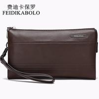 FEIDIKABOLO Luxury Leather Long Wallet Men Pruse Male Clutch Wallets Handy Bags Large Capacity Carteras Mujer
