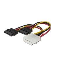 100pcs IDE Serial ATA SATA 4 Pin Molex 2 Of 15 Pin Double HDD SSD Power