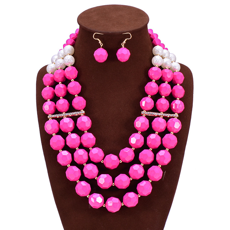 African Beads Jewelry Set Fashion Bridals