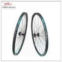 29er carbon fiber mtb wheels 24mmx23.5mm clincher mountain bike wheelset with Novatec disc hub Sapim D light spokes