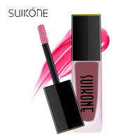 SUIKONE Brand Women Professional Lip Makeup Lip Gloss 6ML Natural Long Lasting Waterproof Moisturize Lipstick Lip Gloss