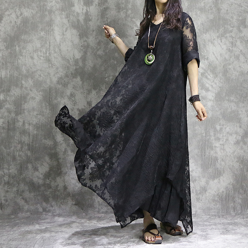 ผู้หญิงหลวมสีทึบปักเท็จ2ชิ้นชุดสุภาพสตรีR EtroหรูหราคอVชุดหญิงกลวงออกงานชุด2018-ใน ชุดเดรส จาก เสื้อผ้าสตรี บน AliExpress - 11.11_สิบเอ็ด สิบเอ็ดวันคนโสด 1